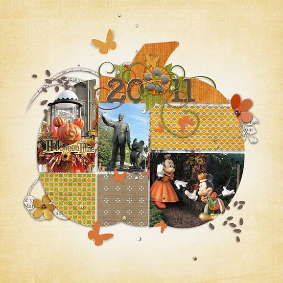 halloween, fall or thanksgiving layout
