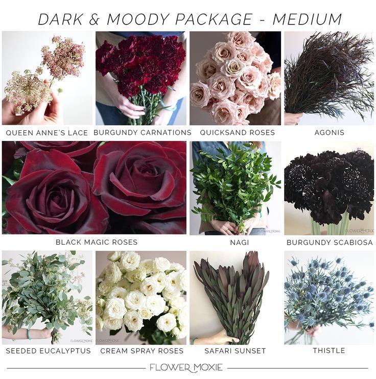 Moody Scarlet Medium Package Fall Wedding Flowers Diy Wedding Flowers Wedding Flowers