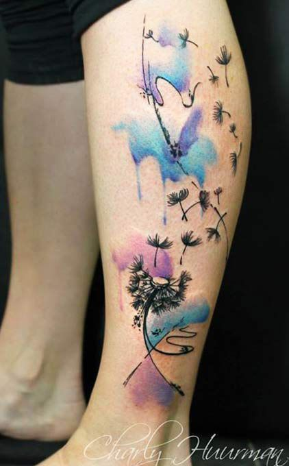 Abstract Flowers Tattoo by Charles Huurman  | Tattoo No. 12413