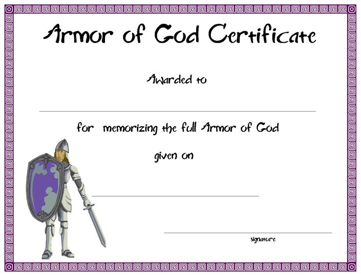 ... Bible Lessons, Sunday Schools, Certificate Te, Bible Schools, Armor Of