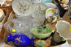 CHINA AND CRYSTAL WARE - Box of Assorted