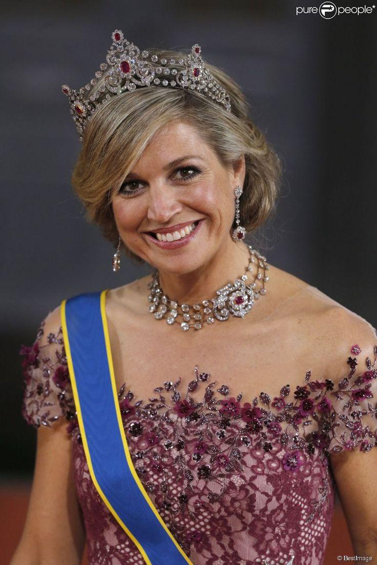 La reine Maxima des Pays-Bas - Les invités du mariage du prince Carl Philip de Suède et Sofia...