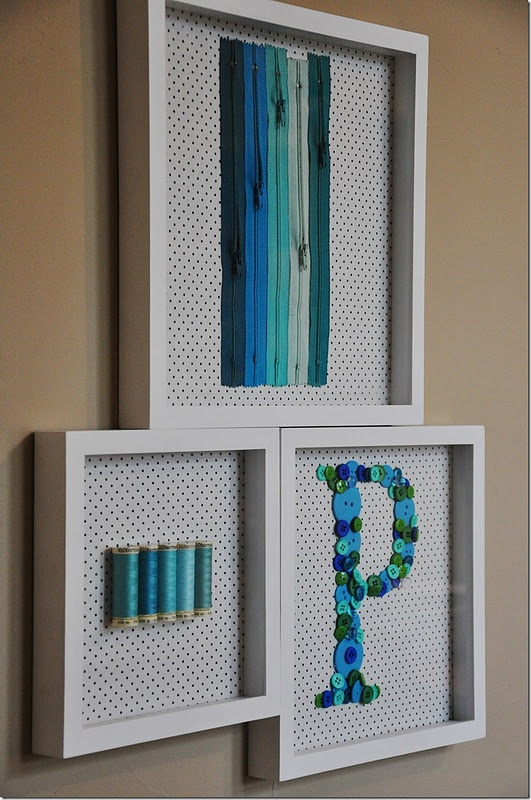 Wall Decor Craft Room : Sewing room wall art tutorial free patterns and