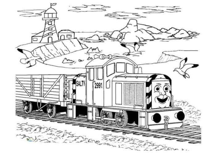 Salty From Thomas The Train Coloring Pages In 2020 Train Coloring Pages Coloring Pages Halloween Coloring Pages Printable