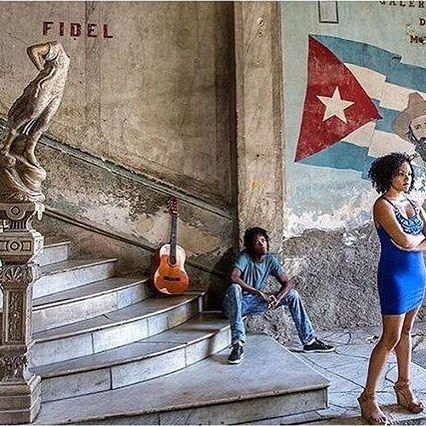 Great #photo with #friends in an #old #building #habana #cuba #guitar #model #cuban #flag #fun #time #iloveit #travel #traveling #travelagency #trip #tour #vacation by majestytravel