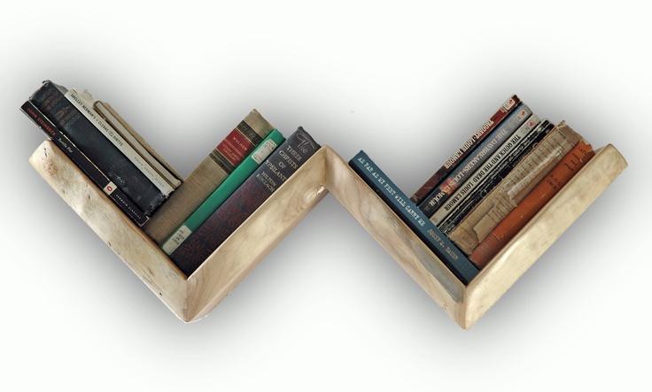 The Zag Shelf -- in Natural Edge Maple. $165.00, via Etsy.