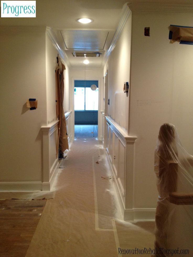Wainscoting around corner