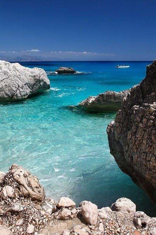 The ocean grotto where Nina meets Amatheia and receives her coracle home Beach Costa Emerald - #Sardinia, #Italy
