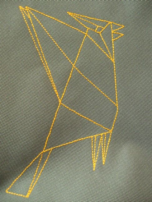 lukola handmade // embroidered bird