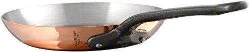 """Mauviel 6544.26 M'Heritage M250C 2.5mm Copper Round Frying Pan, 10.2"""","""