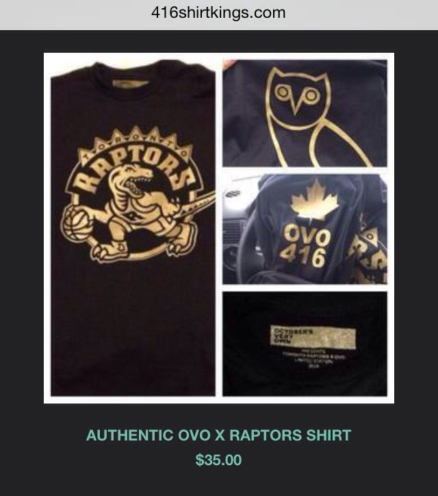 Get your Toronto Raptors OVO gear here ! Get your Drake night long sleeve ! 416shirtkings.com ! We The North