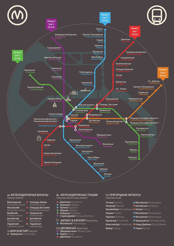St Petersburg metro map poster 123 best