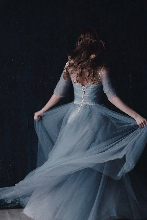 blue, dress, and princess resmi