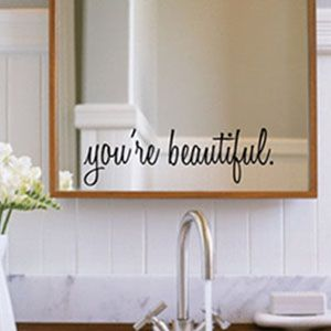 for a daughter's bathroom mirror... This is more than precious, it's perfect for any girl!