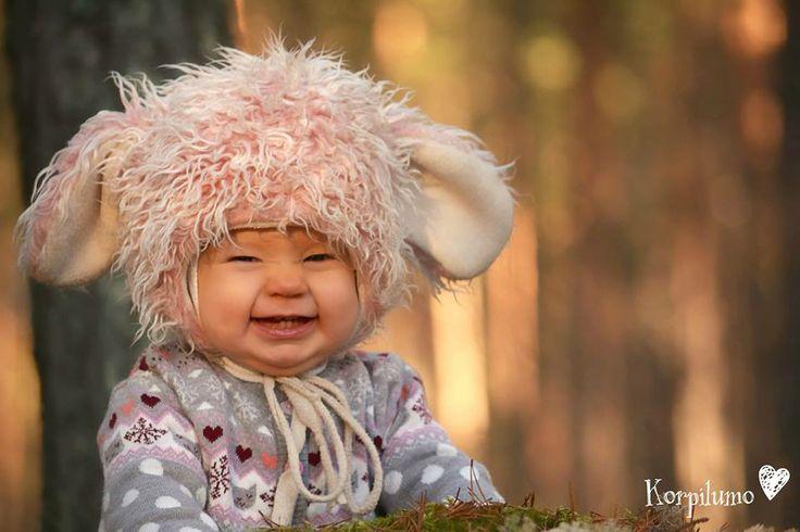 Cute Finnish baby with Tinttu hat