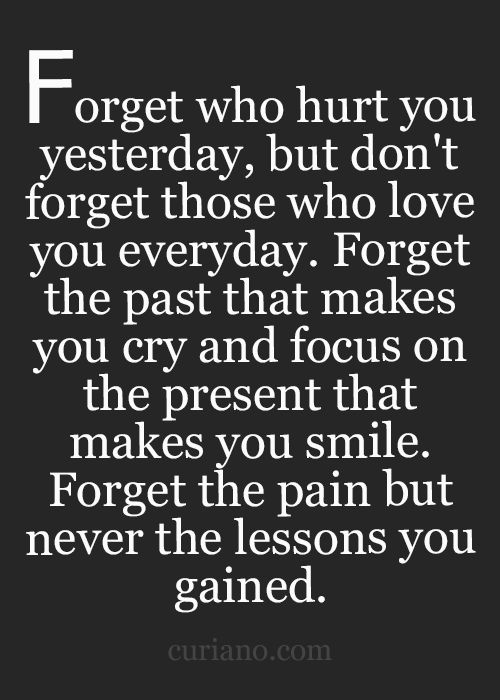 I learned my lesson to never do what I did again, and leave the past but I can't when someone else isn't moving on and keeping it against me:(