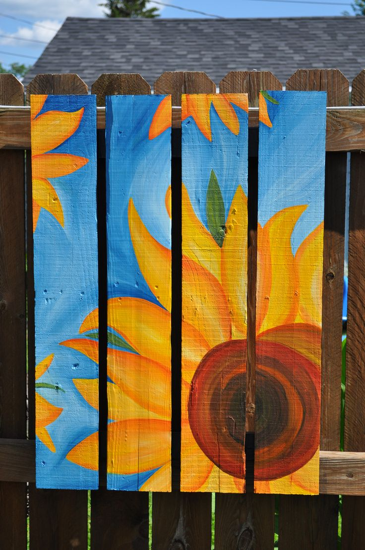 painted fences painted pallets fence painting backyard fences garden