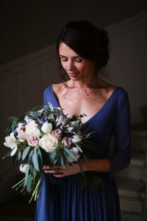 Amandine Ropars photographe - Shooting inspiration mariage en bleu - #wedding #blue #inspiration #editorial #mariage #bleu #bouquet #flowers #fleurs