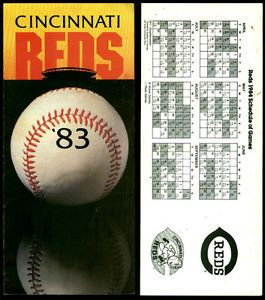 LOT OF 3 DIFFERENT CINCINNATI REDS SCHEDULE BROCHURES 580 GIFT SHOP BROCHURE