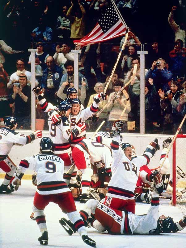 USA Hockey Team One of the best sports moments of all time. I remember watching the game with my dad!