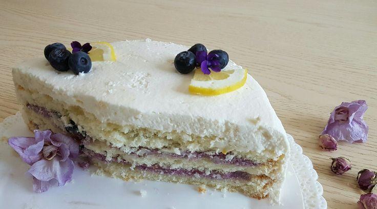 White Chocolate Blueberry cake