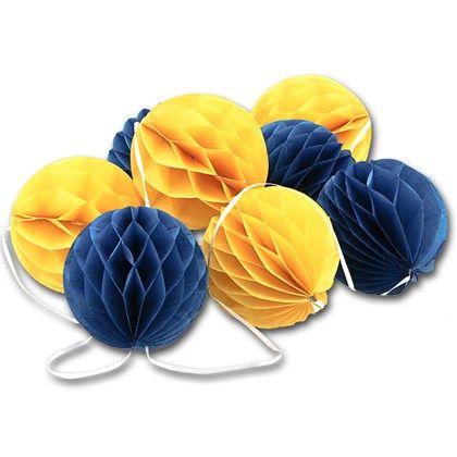 Blå gul girlang