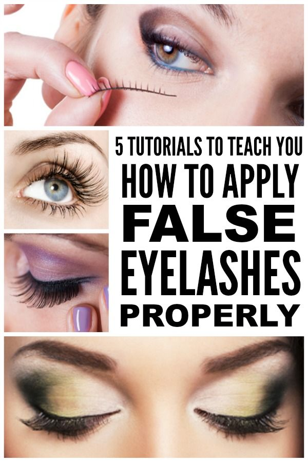 How To Apply False Eyelashes 5 Great Tutorials Makeup Pinterest
