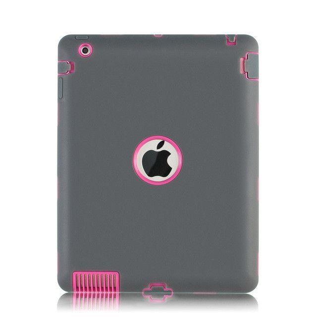 Amor Heavy Duty Drop resistance Shock Proof tablet Case For Apple ipad 2/ipad 3 4 Heavy Rubber&Plastic Duty Silicone Hard Case