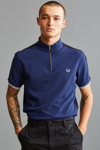Fred Perry Zip Neck Pique Polo Shirt | Urban Outfitters