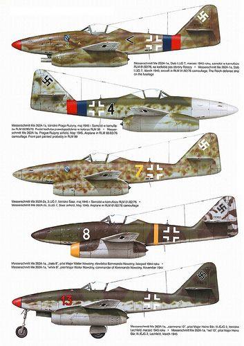 Messerschmitt Me 262 variants color II
