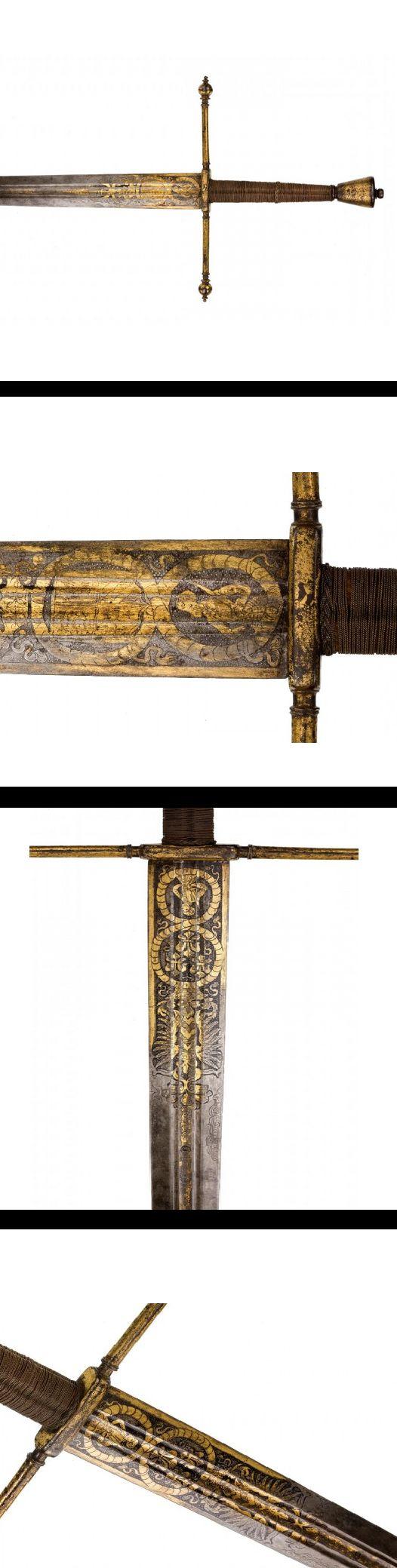 Espada de las armerías de los príncipes von Liechtenstein - Alemania - C 1580