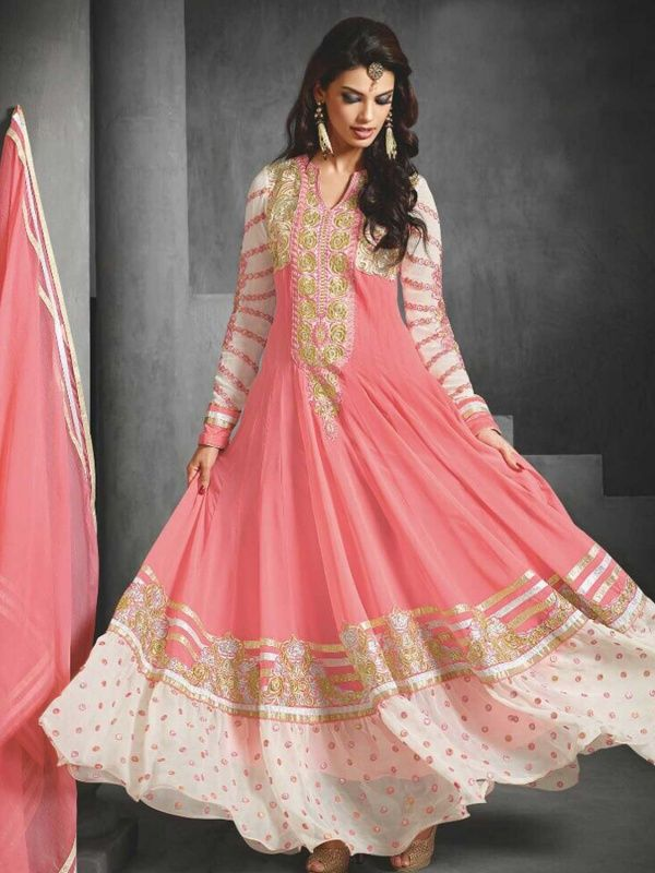 Impressive Designer and Party wear Peach Salwar Suit comes with santoon Bottom, peach Color chiffon Dupatta. It contained the Floral. The Suit which can be customized up to bust size 42
