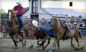 Groupon - Rodeo Series Finals for Two or Four at Malibu Dude Ranch on September 14 or 15 at 7 p.m. (Up to 52% Off) in Milford (Malibu Dude Ranch). Groupon deal price: $15.00
