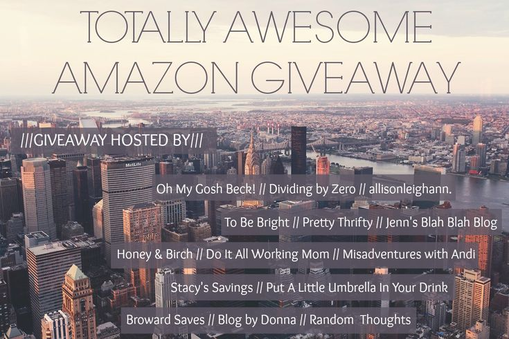 Totally Awesome Amazon Giveaway - September - Honey and Birch