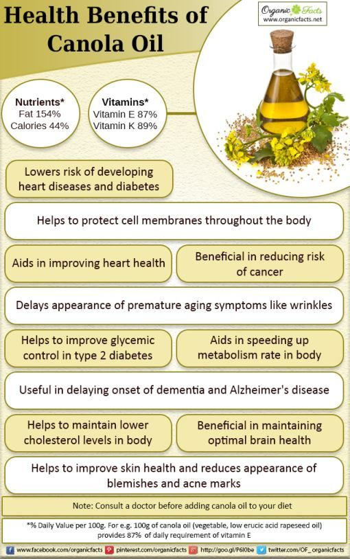 Health Benefits of Canola Oil   Organic Facts
