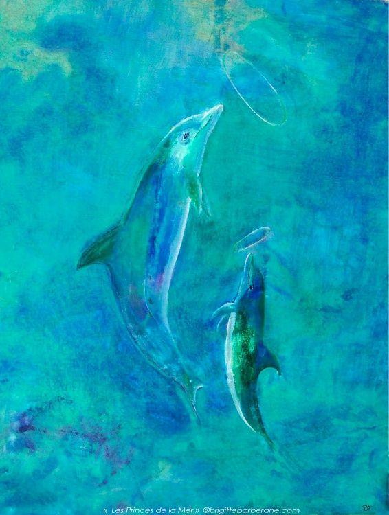 """Reproduction de """"Les Princes de la Mer"""" - Painting ©2013 by Brigitte Barberane -  Painting, Oil"""