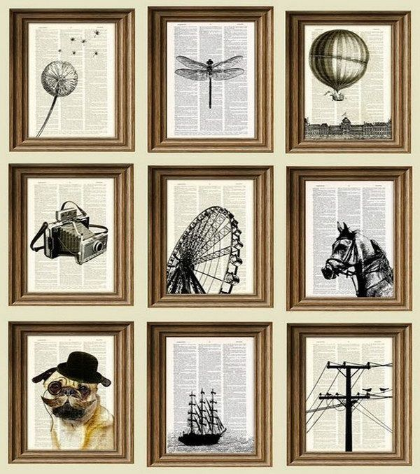 Black Ink Book Page Art