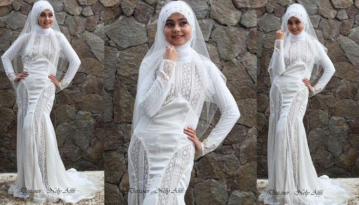 Busana Pengantin Muslimah Surabaya, Desainer Nely Afifi http://nelyafifi.com