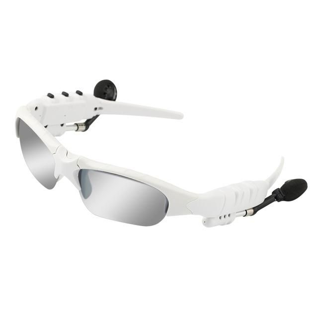 Wireless Bluetooth Headphone Sunglasses For Stereo Music or Hands-Free Phone Calls | WHITE