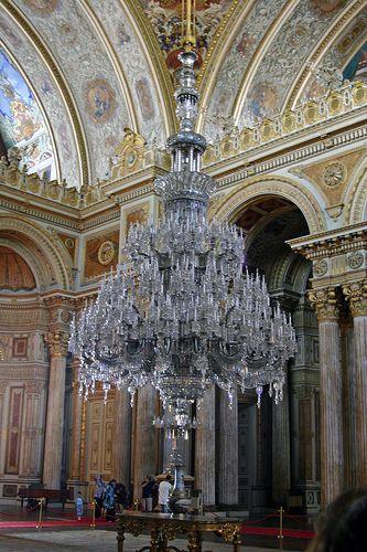 Chandelier, Dolmabahçe Palace! Istanbul...