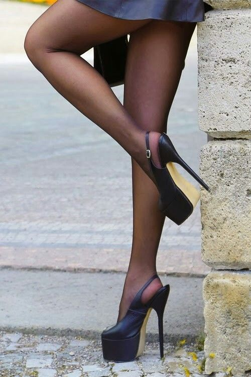 Pantyhose 8inch high heels