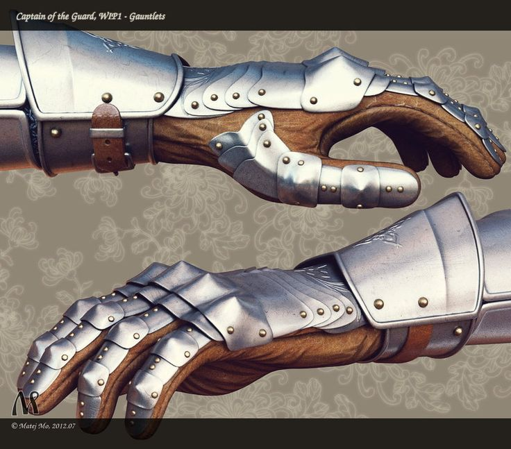 Current character model project WIP. I'm designing a somewhat realistic plate knight armor piece by piece. First wip - gauntlets. I'll be doing a high-poly model with realistic texturing & mate...
