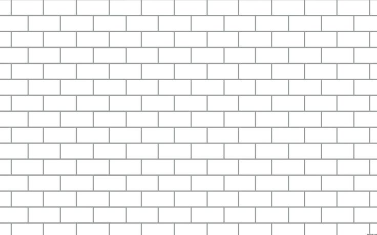 Genuine Brick Coloring Page Printable Wall Outline