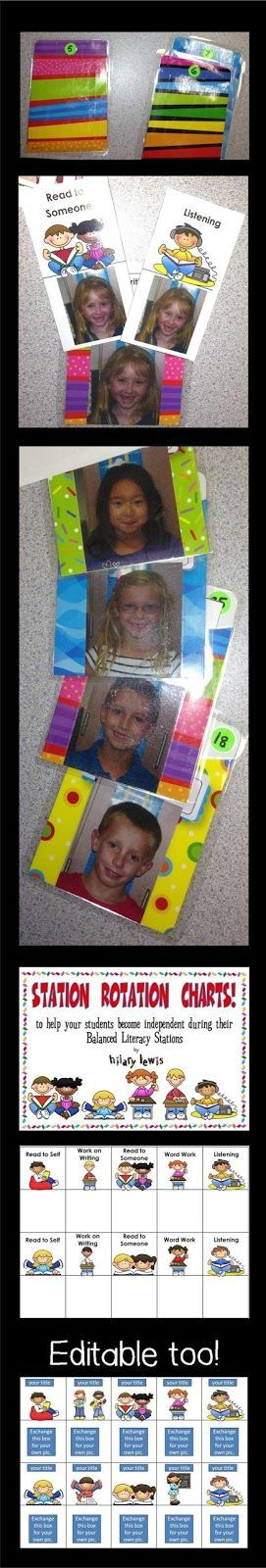 I love letting my kids choose their own stations and I made a few adjustments this year. Not only did I put the kids' pictures on the cards, but I also put their pictures on the library card pouches that hold the cards. http://rockinteachermaterials.blogspot.com/2012/09/daily-5-organization-video.html (scheduled via http://www.tailwindapp.com?utm_source=pinterest&utm_medium=twpin&utm_content=post7050728&utm_campaign=scheduler_attribution)