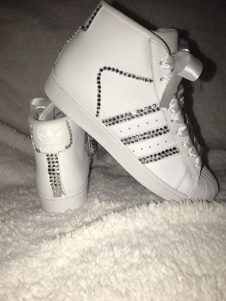 Womens Adidas - Swarovski Bling Adidas (Pro Model) Superstar Original White