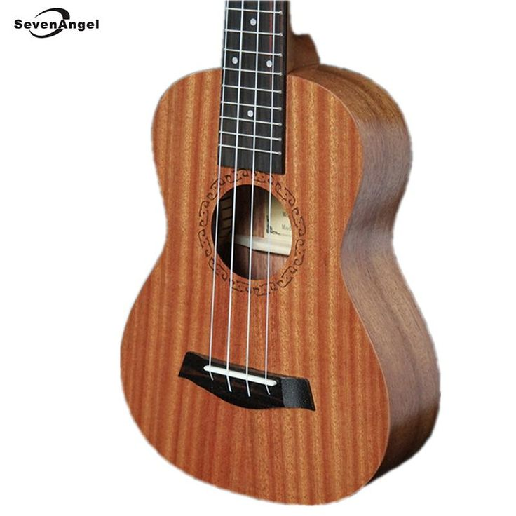 "[Visit to Buy] SevenAngel 23"" Concert Electric Ukulele 4 AQUILA Strings 17 Fret Hawaiian Guitar 61cm Uku Acoustic Ukelele Sapele Material   #Advertisement"