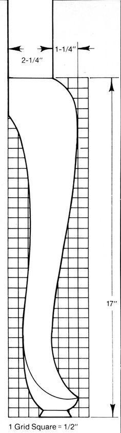 Chippendale leg pattern buscar con google auxilares en for Queen anne leg template