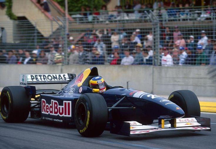Karl Wendlinger (AUT) (Red Bull Sauber Ford), Sauber C14 - Ford ECA Zetec-R 3.0 V8 (RET) 1995 Australian Grand Prix, Adelaide Street Circuit