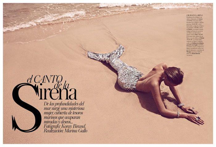 Song of the Siren   Juju Ivanyuk   Koray Birand #photography   Vogue Spain