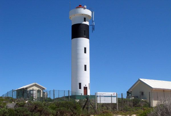 Hangklip Lighthouse at Pringle Bay, South Africa.